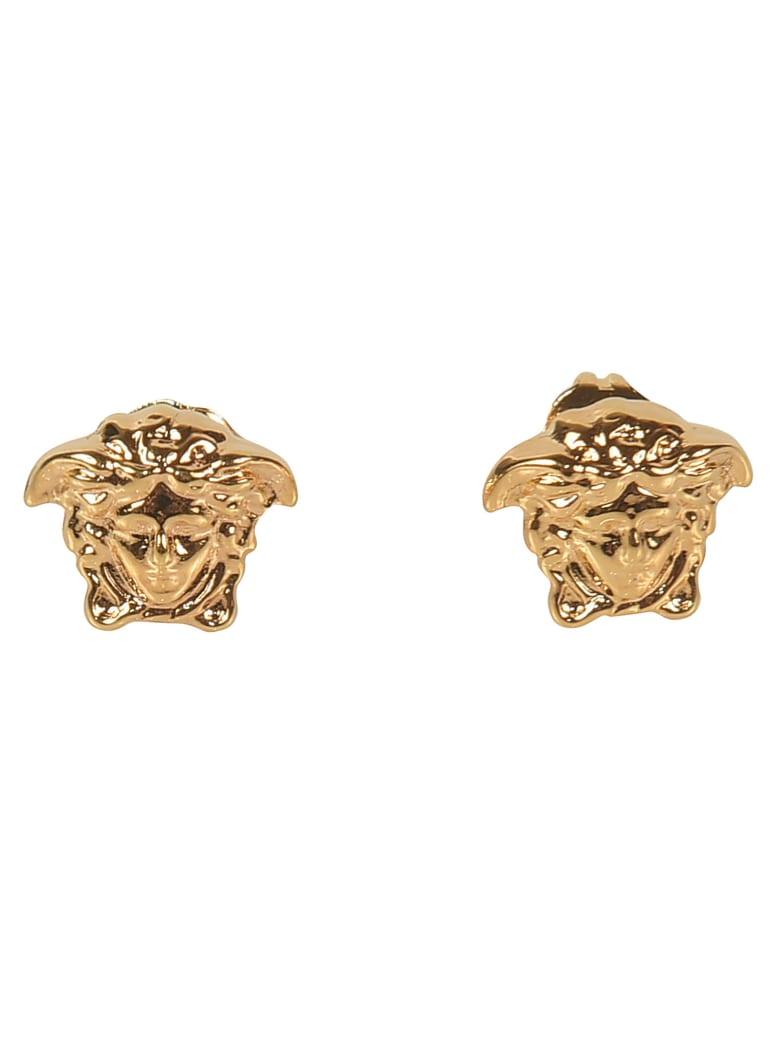 Versace Medusa Head Earrings - Gold