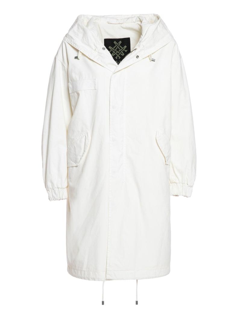 Mr & Mrs Italy Total White London Parka For Woman - WHITE / WHITE