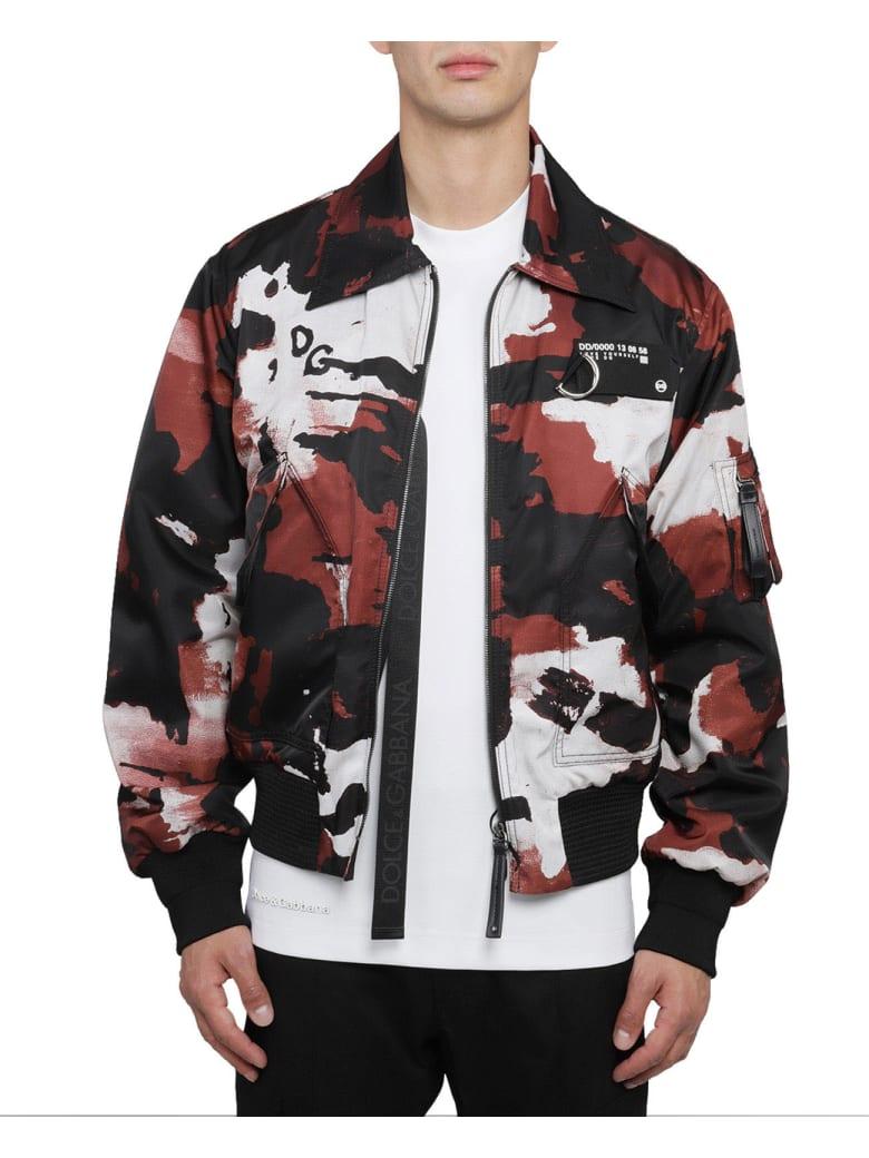 Dolce & Gabbana Camouflage Bomber Jacket - Camouflage