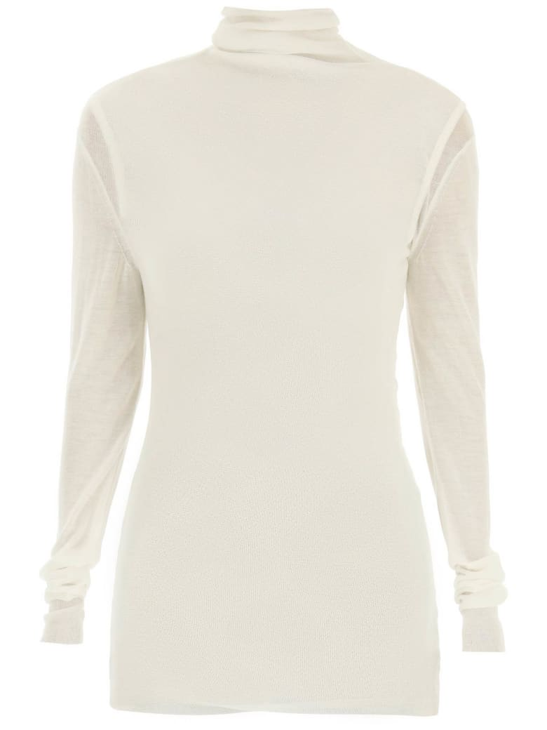 Ann Demeulemeester Tess Cashmere And Silk Sweater - WHITE (White)