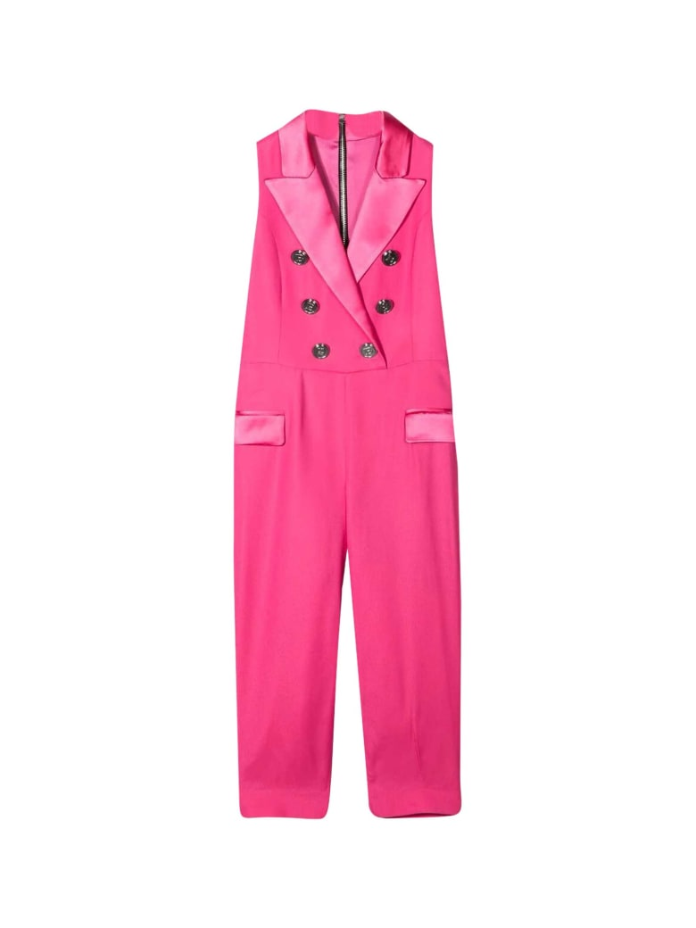Balmain Double-breasted Suit - Fucsia