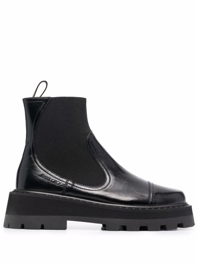 Jimmy Choo Clayton Balck Leather Boots - Black