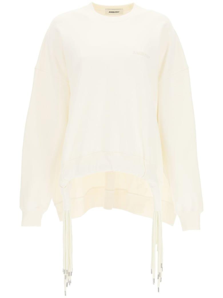 AMBUSH Oversized Sweatshirt With Multi Drawstring - TOFU TOFU