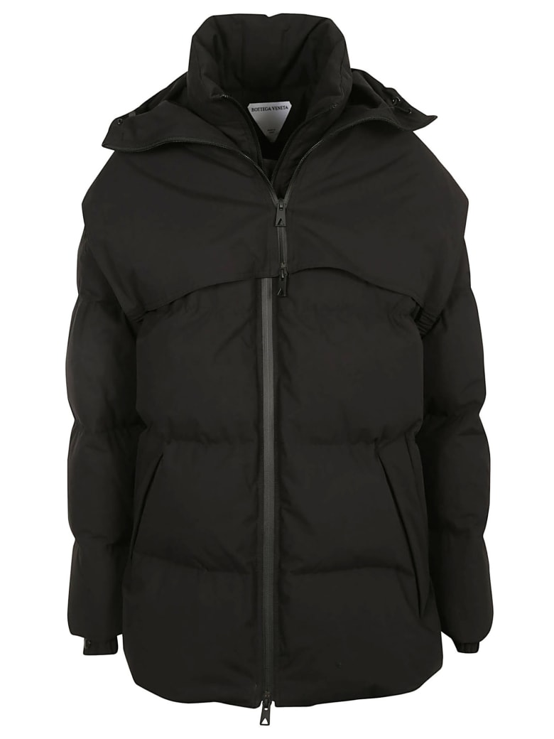 Bottega Veneta Frosted Popeline Padded Jacket - Black