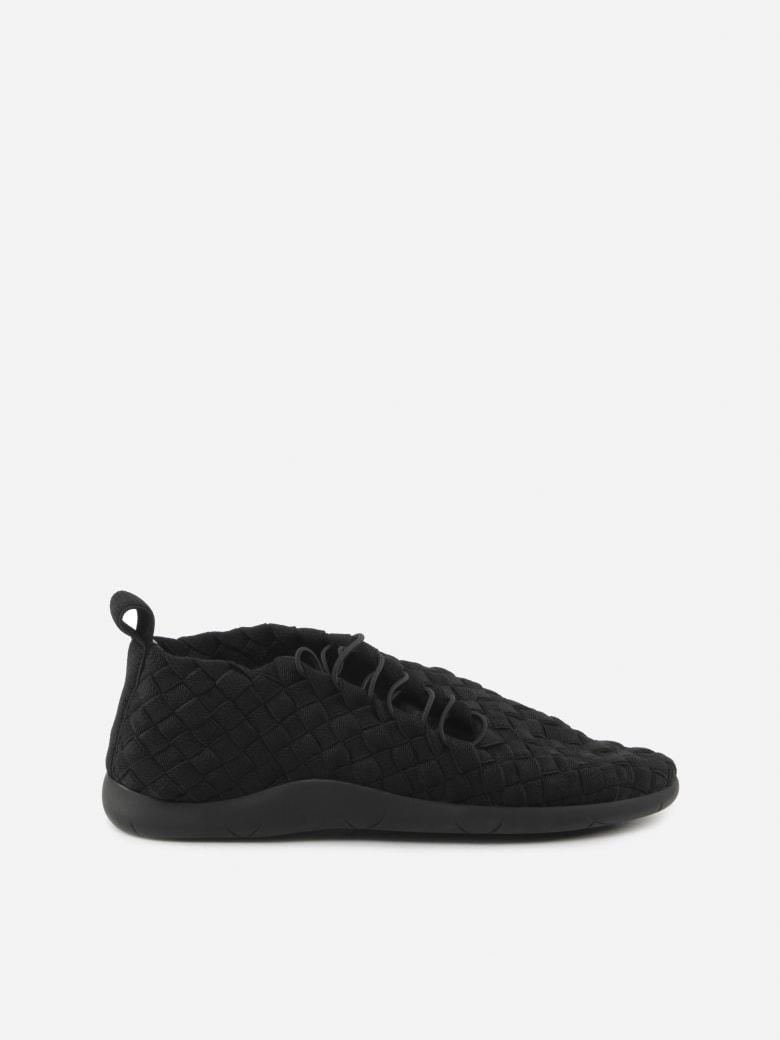 Bottega Veneta Stretch Sneakers In Woven And Nappa Leather - Nero