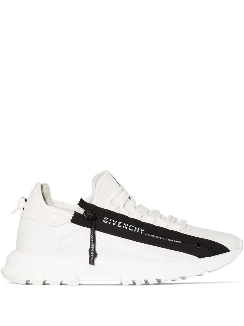 Givenchy Man White Spectre Running Low Sneakers With Zip