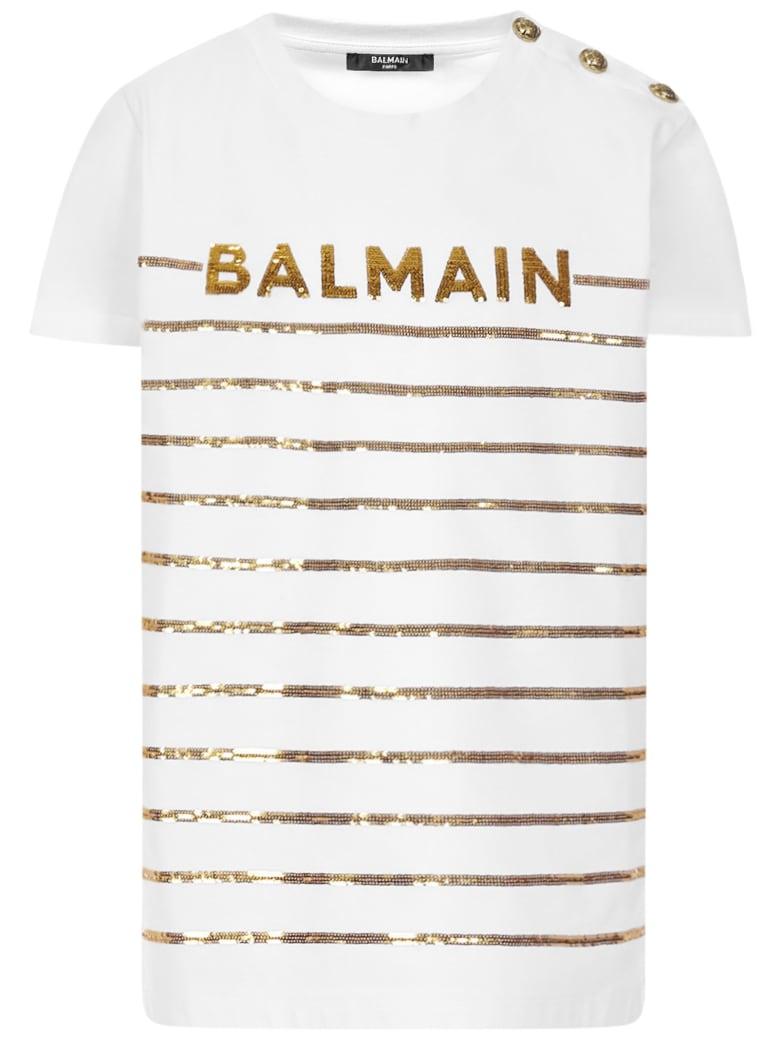 Balmain Paris Kids T-shirt - White