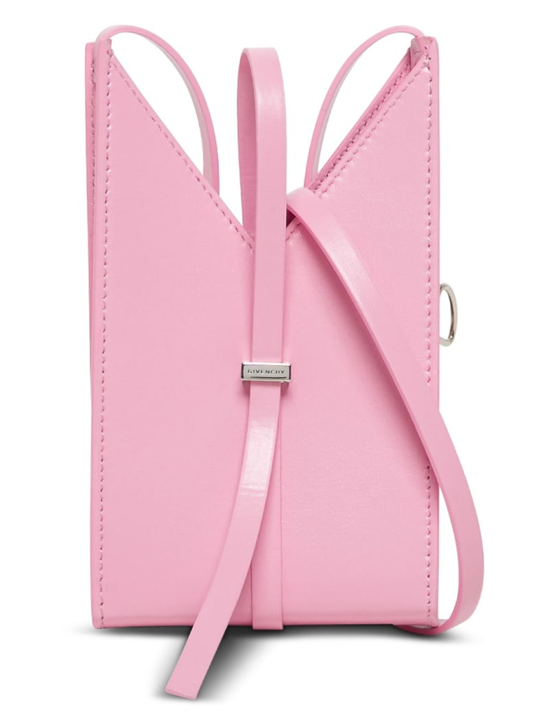 Givenchy Cut Out Crossbody Bag In Pink Leather - Pink