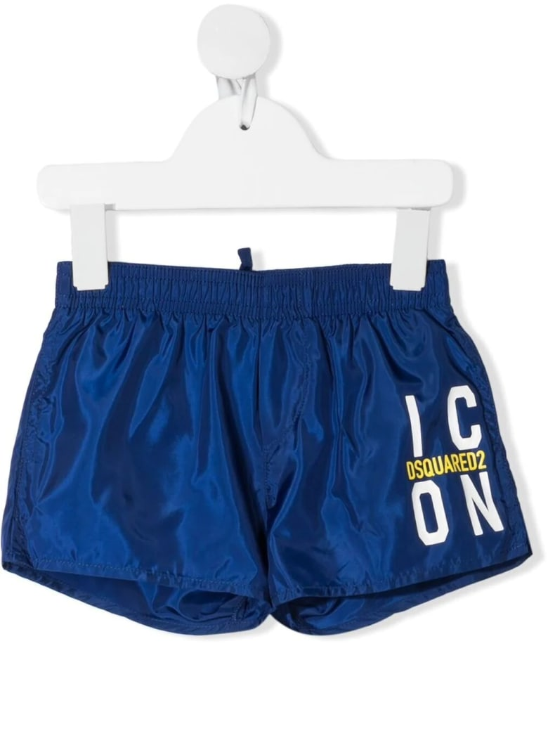 Dsquared2 Newborn Blue D2kids Icon Swim Shorts