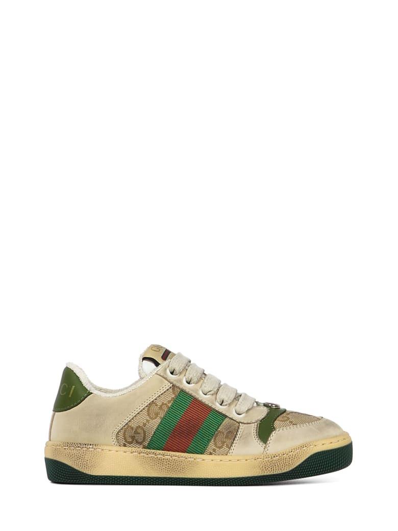 Gucci Junior Screener Sneakers - Beige