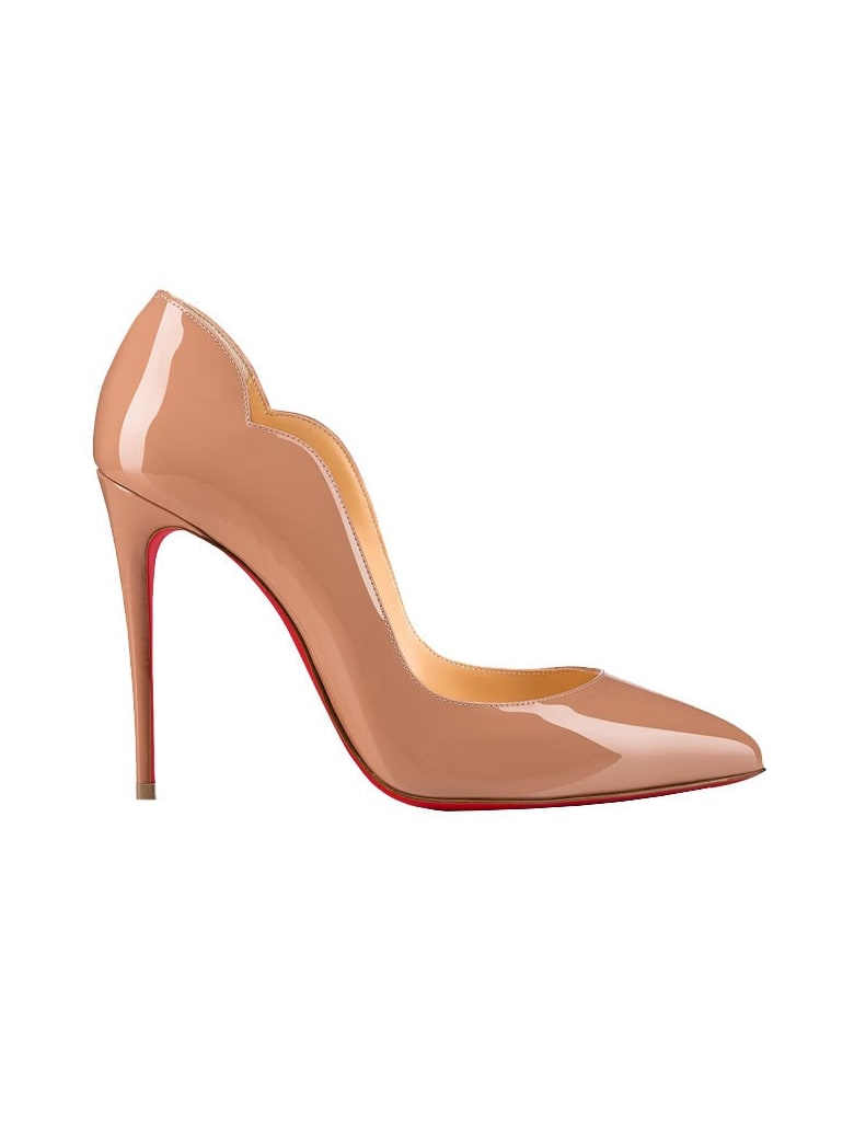 Christian Louboutin Nude Patent Hot Chick Pumps - NUDE