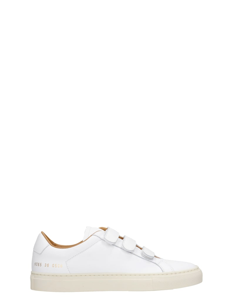 Common Projects Achille Veltro Sneakers In White Leather - white