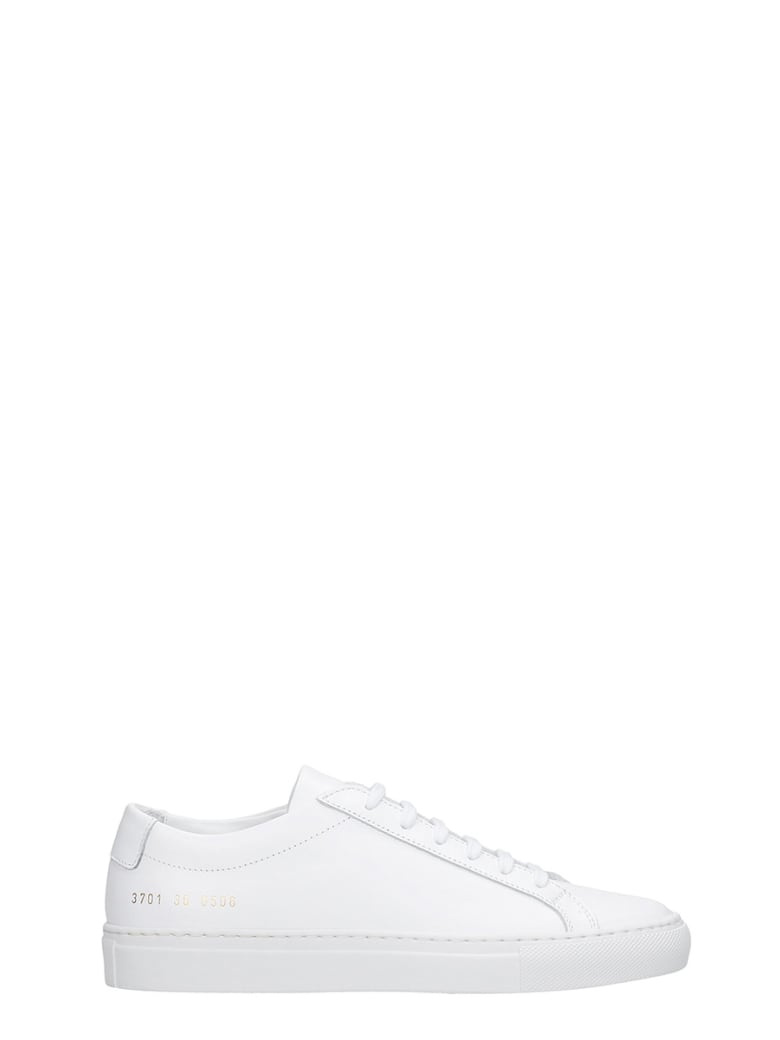 Common Projects Achille Sneakers In White Leather - white
