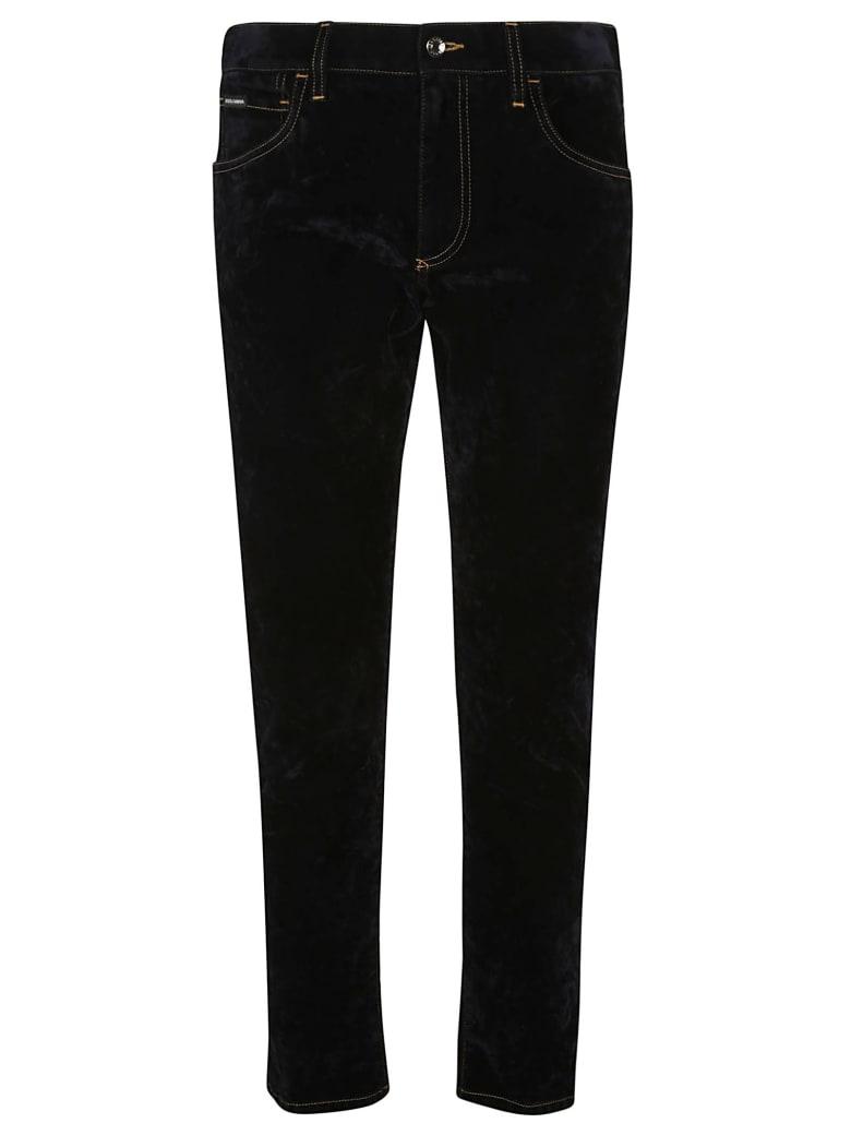 Dolce & Gabbana Regular 5 Pockets Denim Jeans - Blue