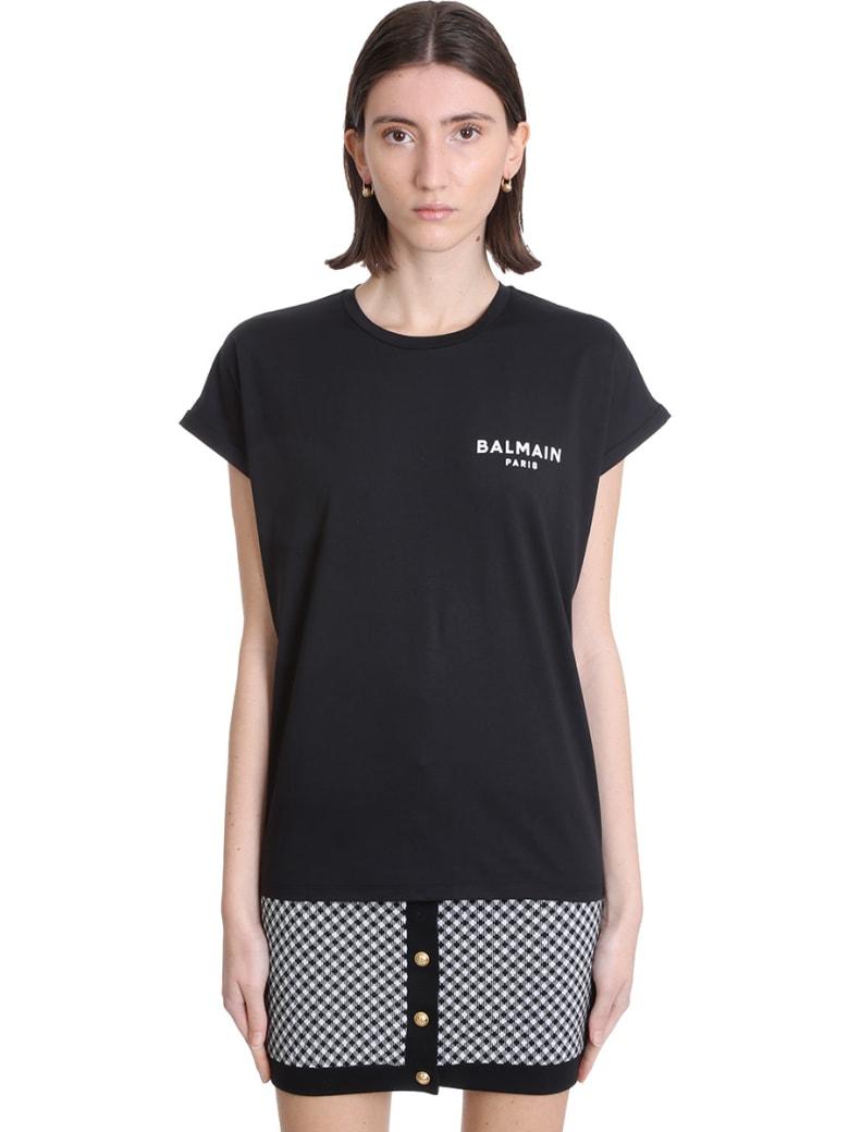 Balmain T-shirt In Black Cotton - Nera