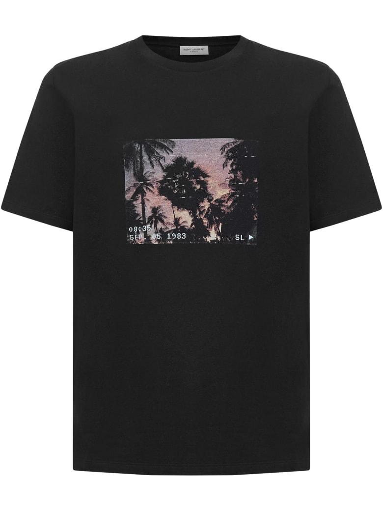 Saint Laurent Vhs Sunset T-shirt - Black