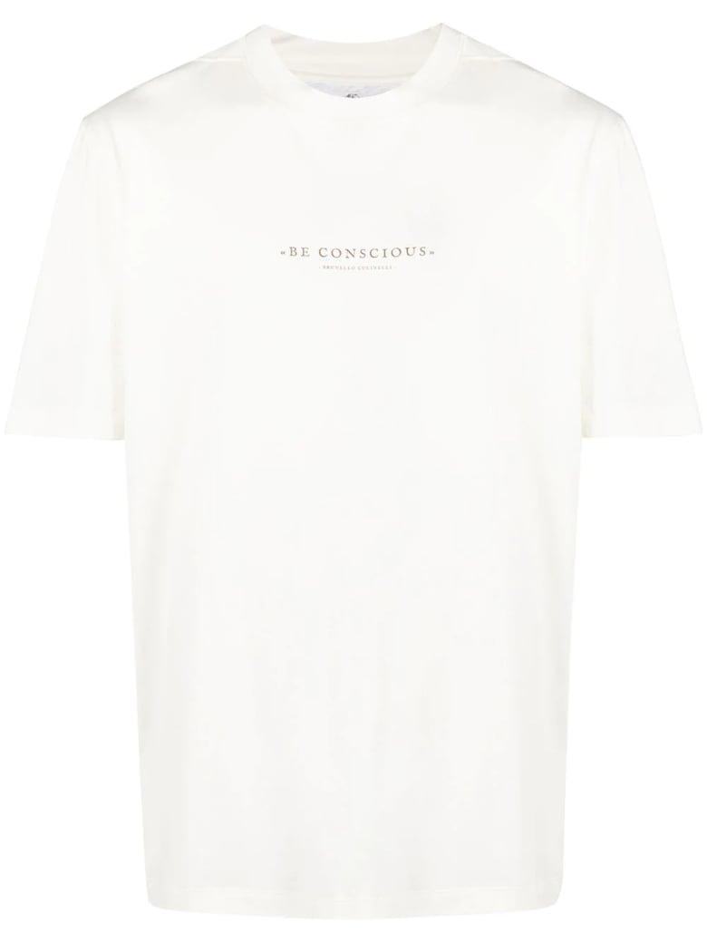 Brunello Cucinelli Ivory Cotton T-shirt - Panna