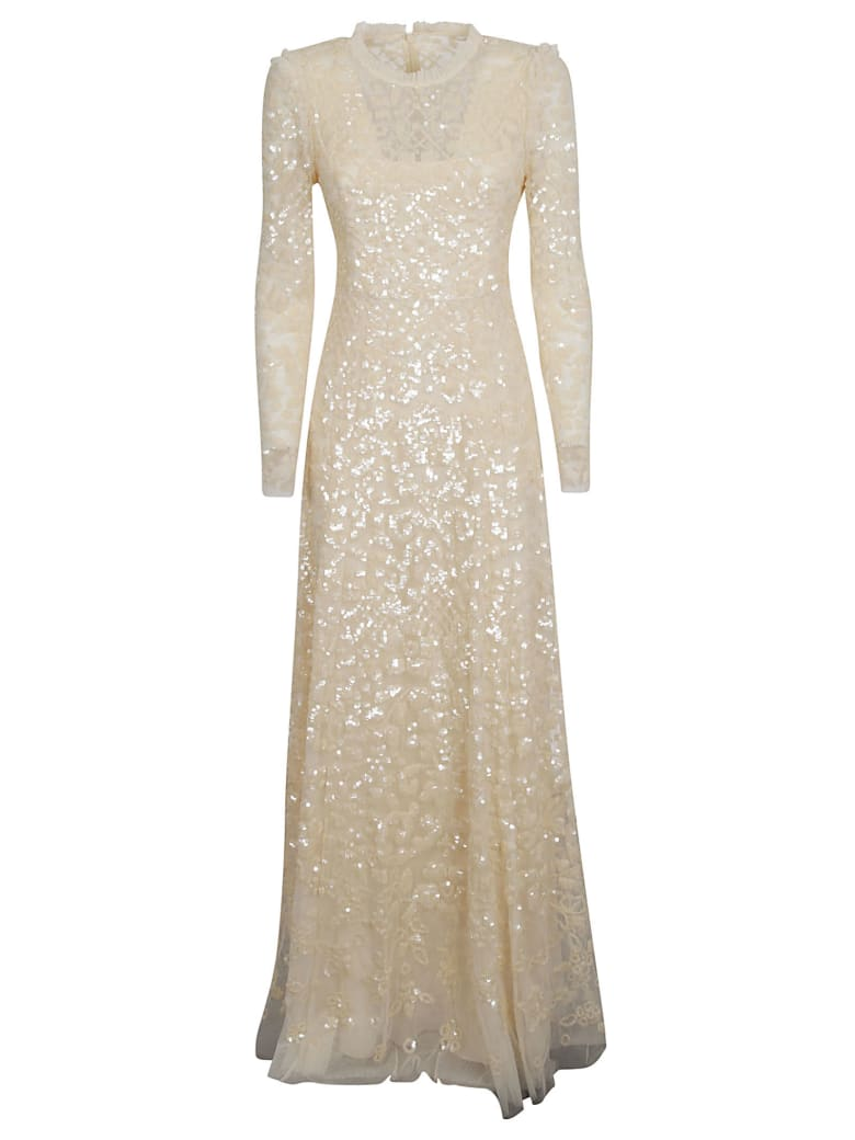 Needles Aurelia Long-sleeved Dress - Champagne