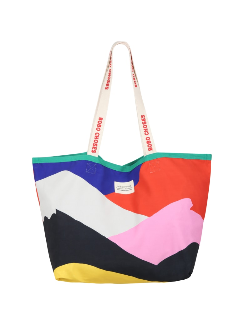 Bobo Choses Multicolor Bag For Kids With Patch Logo - Multicolor