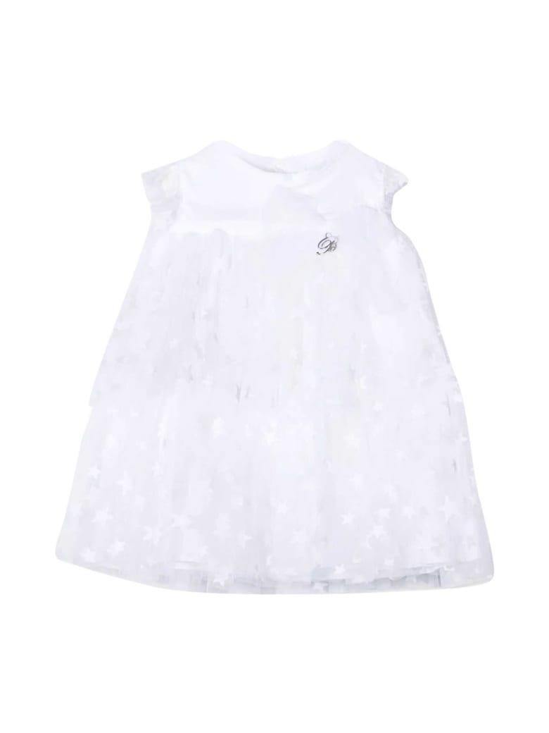 Miss Blumarine Dress With Print - Bianco