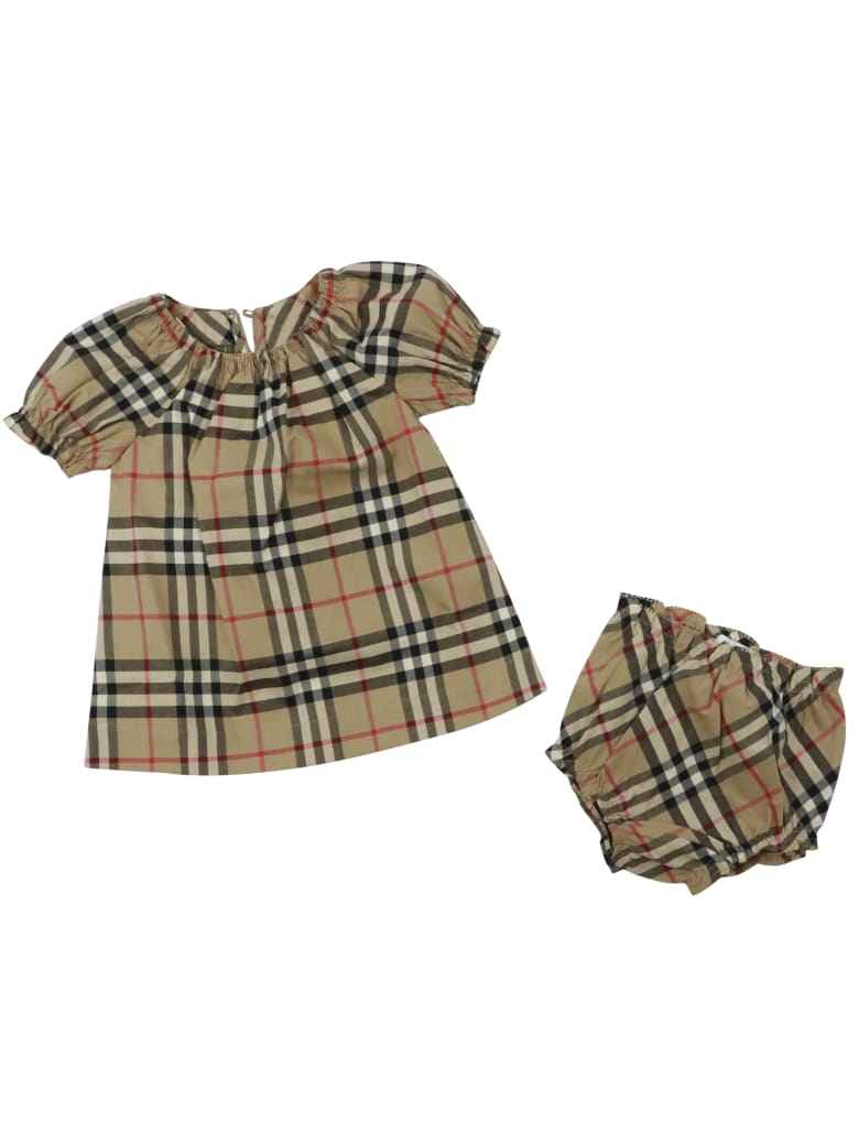 Burberry Hedi Dress - BEIGE CHECK