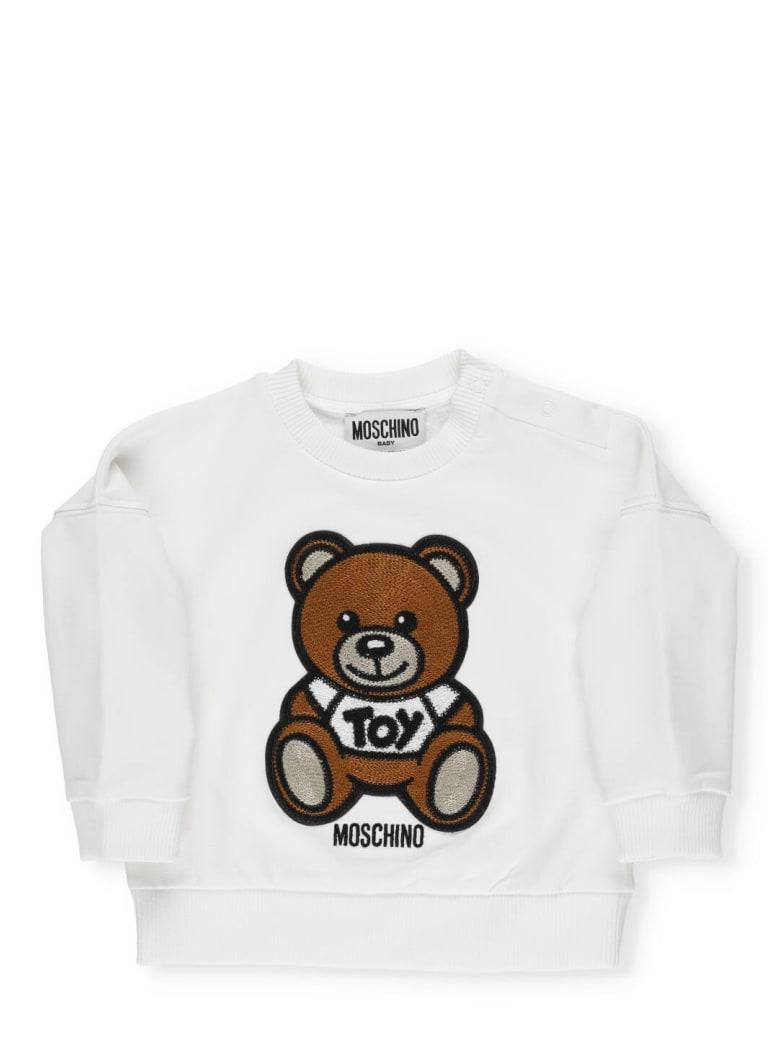 Moschino Logo Sweatshirt - BIANCO OTTICO