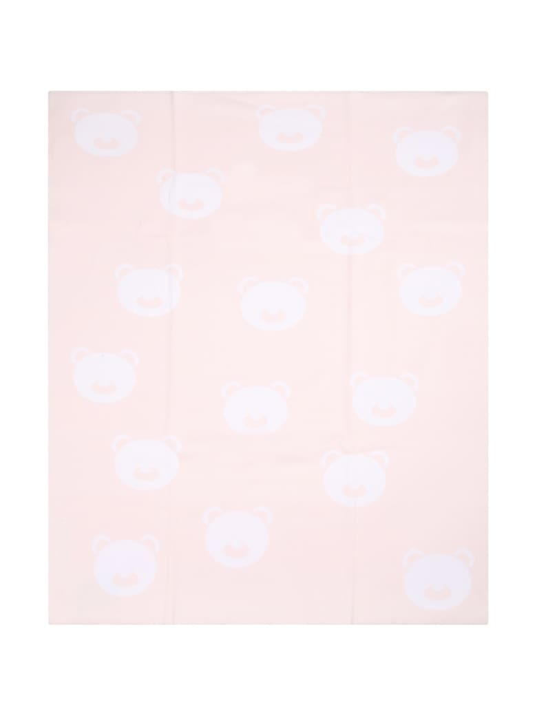 Little Bear Pink Blanket For Baby Girl With Bears - Pink