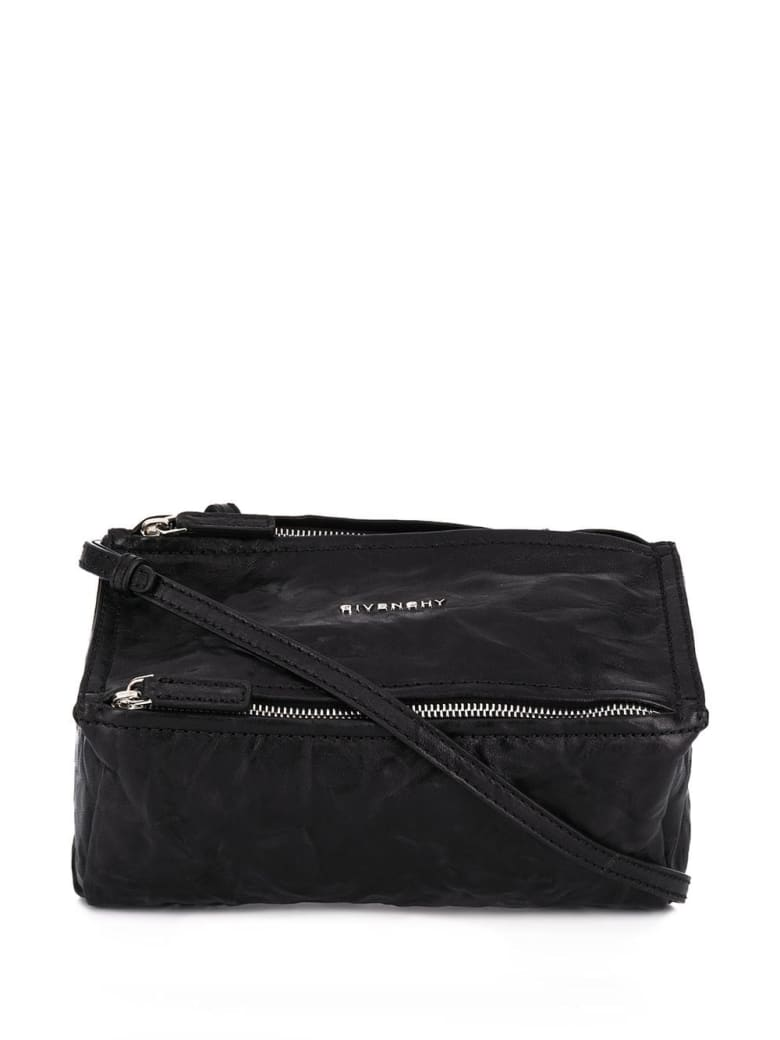 Givenchy Pandora Mini Bag In Aged Black Leather