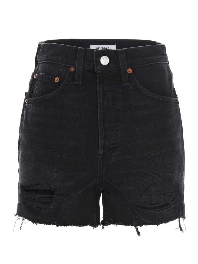 RE/DONE '50s Cut Off' Shorts - Black