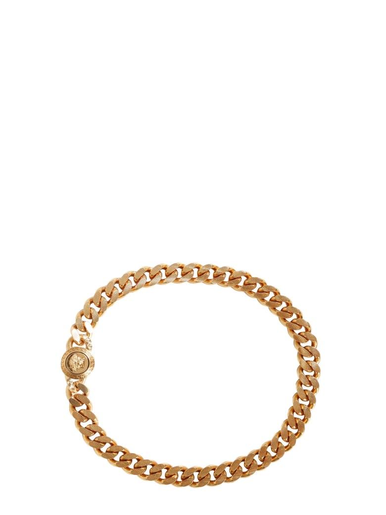 Versace Brass Choker Necklace - ORO