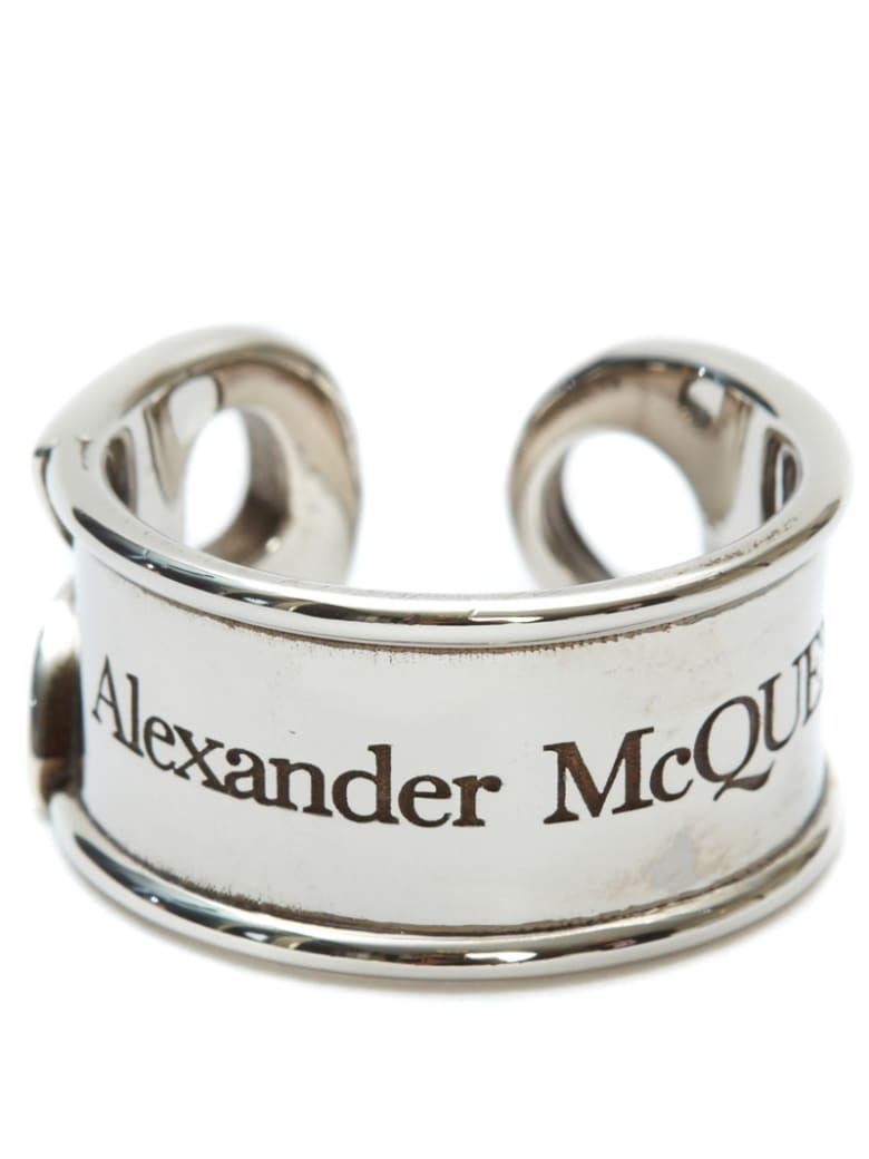 Alexander McQueen Logo Ring - Silver