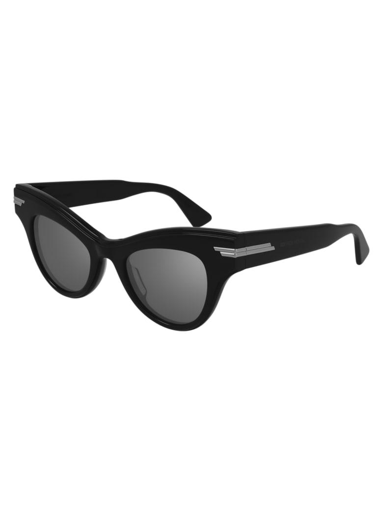 Bottega Veneta BV1004S Sunglasses - Black Black Silver