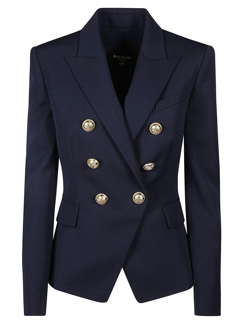 Balmain Plain Dinner Jacket - Blu