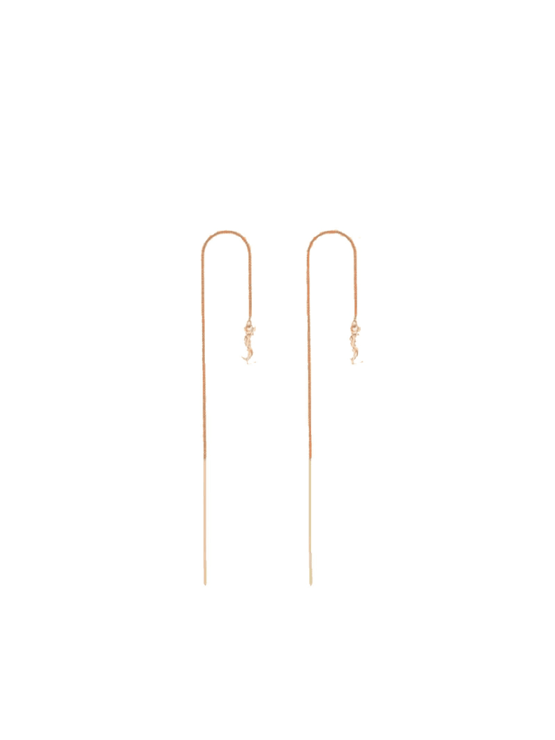 Saint Laurent Gold Metal Earrings - GOLD