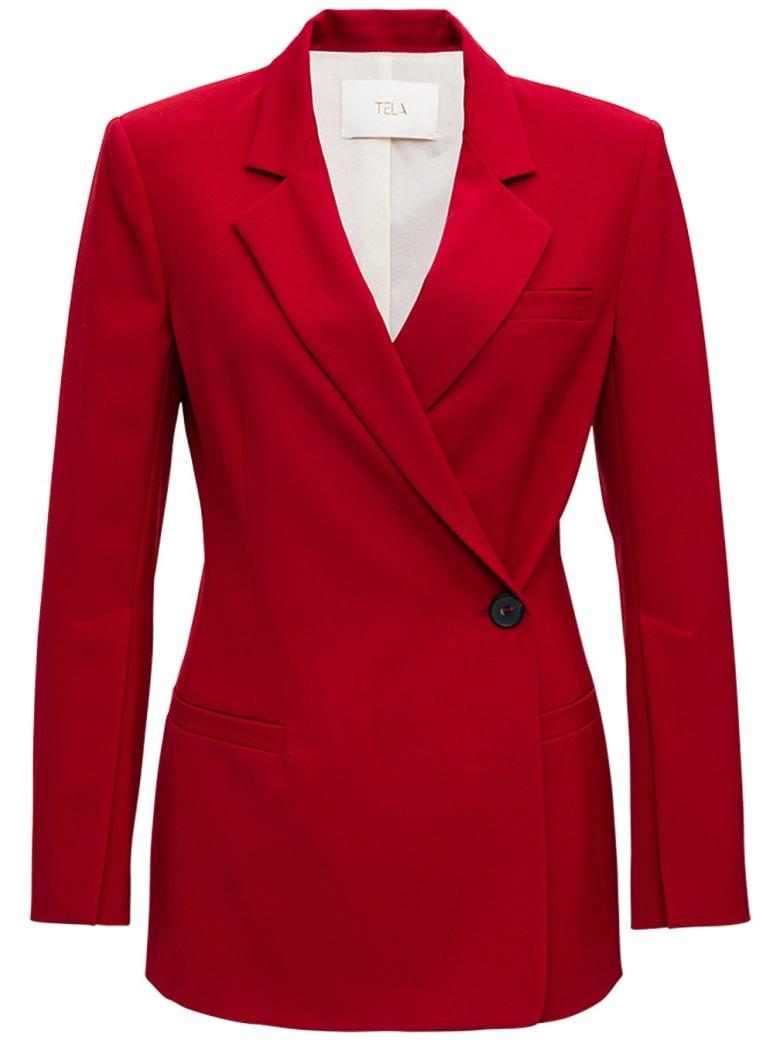 Tela Dolly Red Blazer - Red