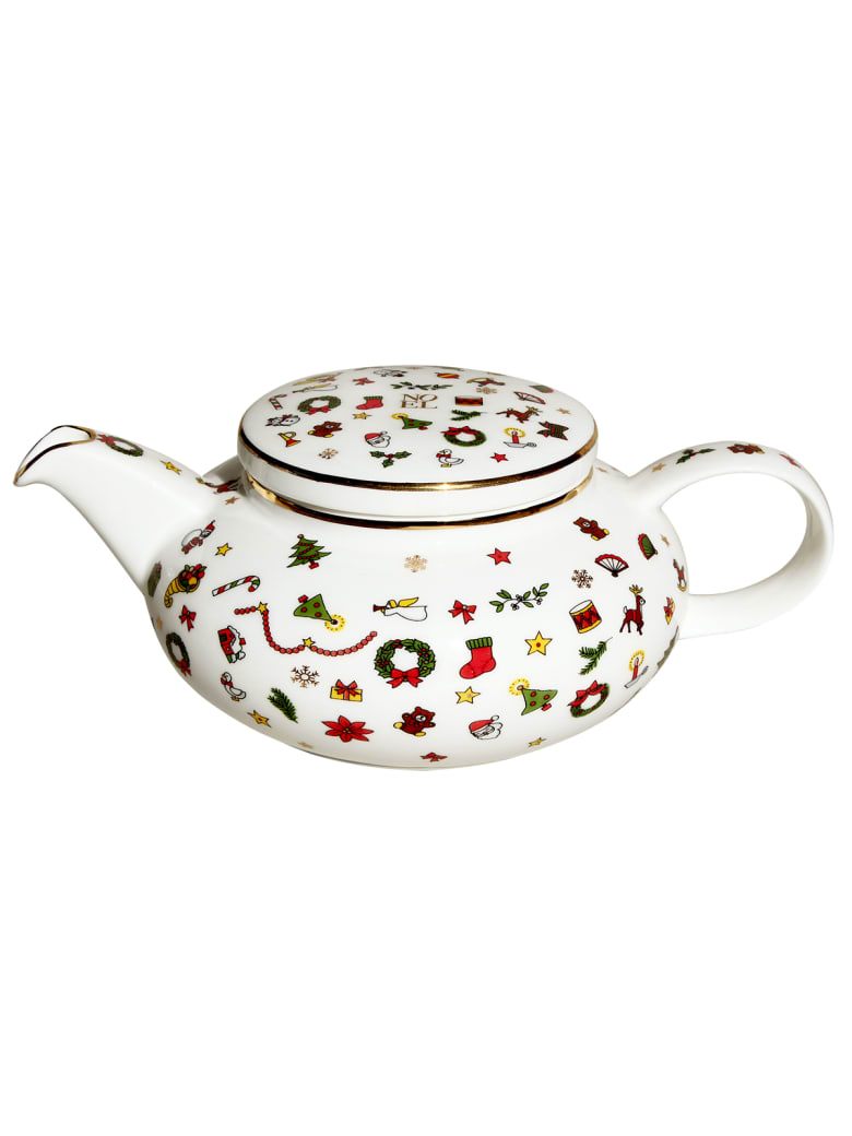 Taitù Teapot - Noel Oro Collection - Multicolor and Gold