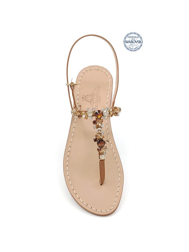 Dea Sandals Licampi Jewel Thong Sandals - crystal, amber