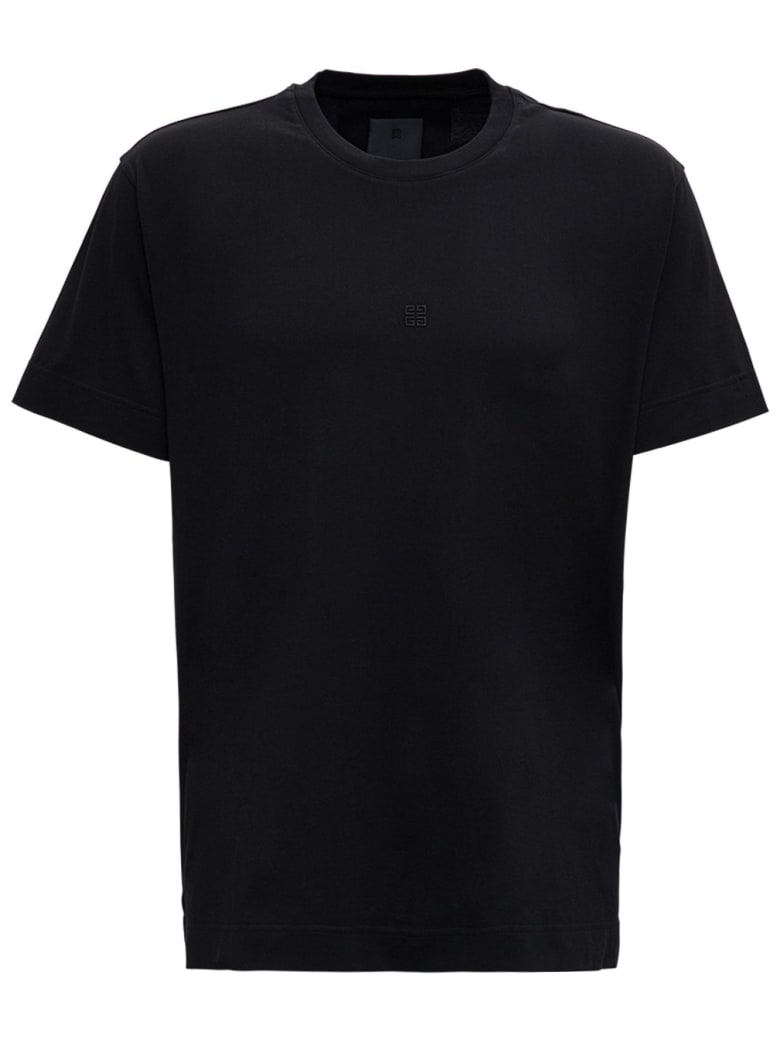Givenchy Black Cotton T-shirt With Micro Logo - Black