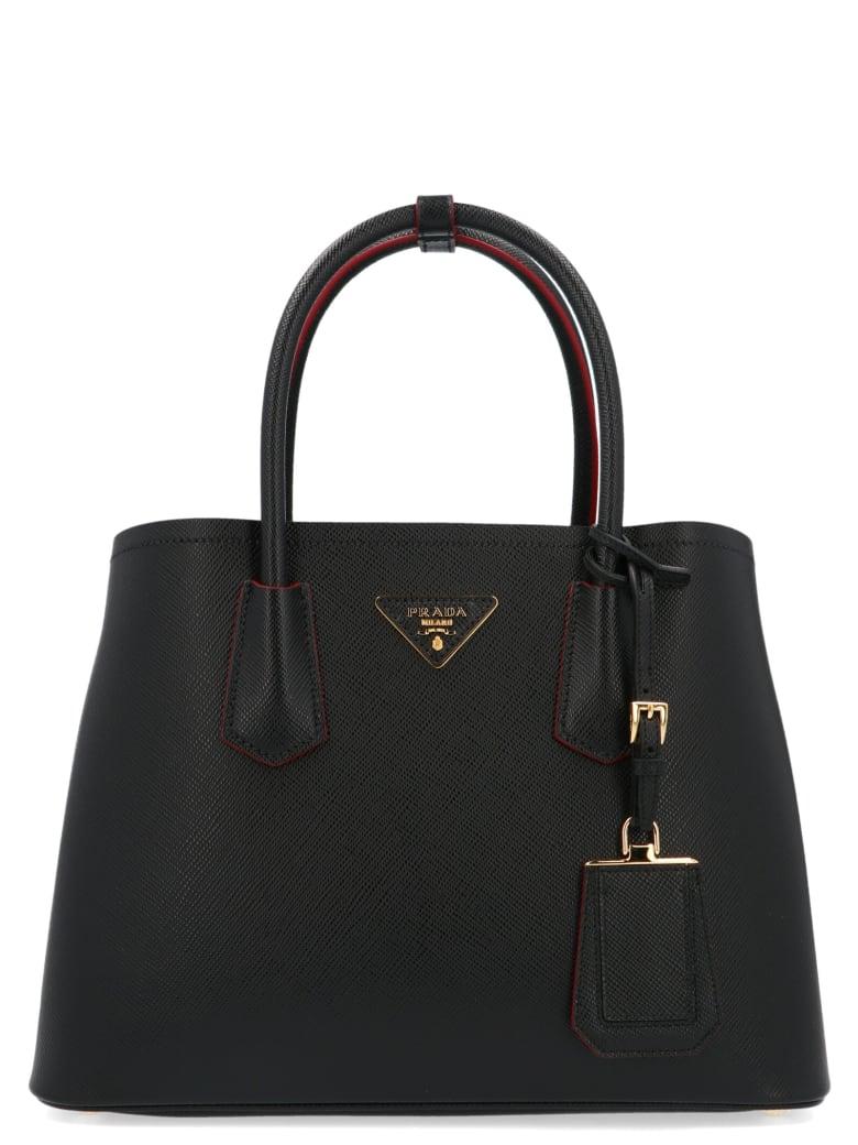 Prada 'double' Bag - Nero