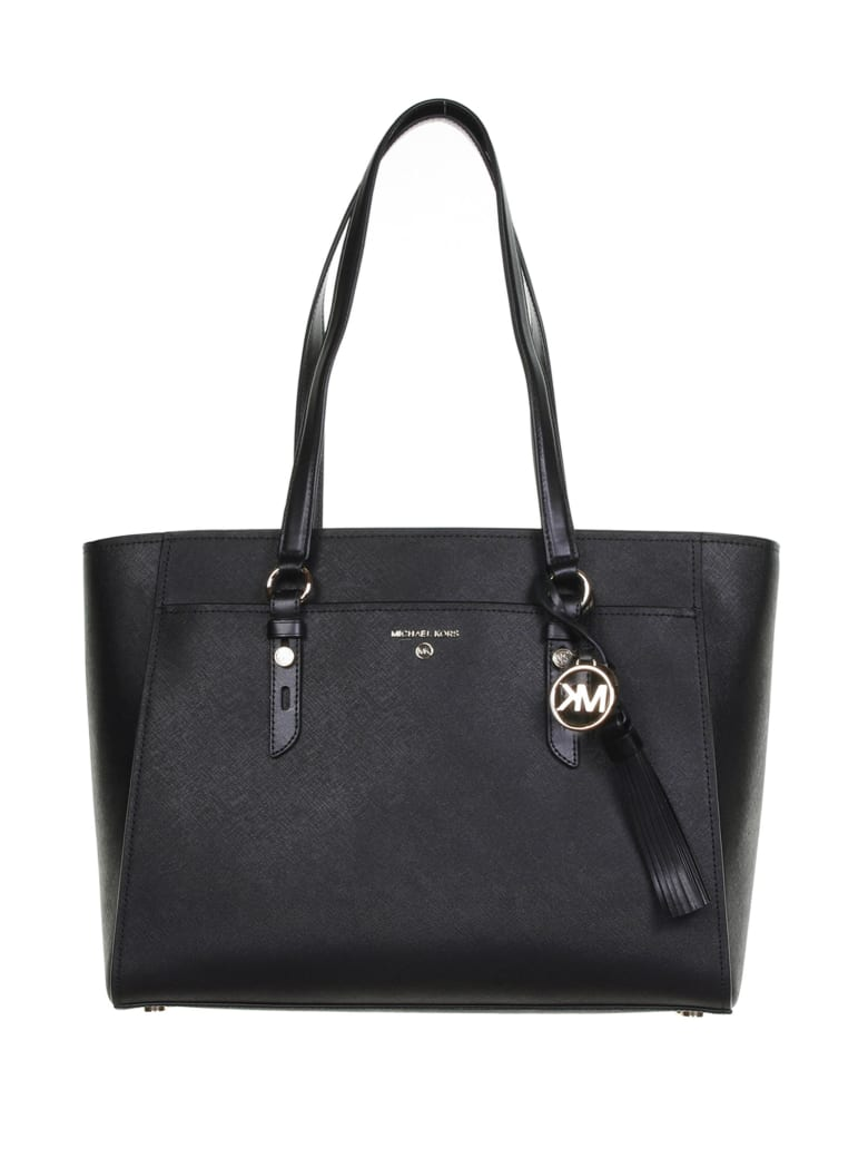 MICHAEL Michael Kors Tote Bag In Black Leather - Nero