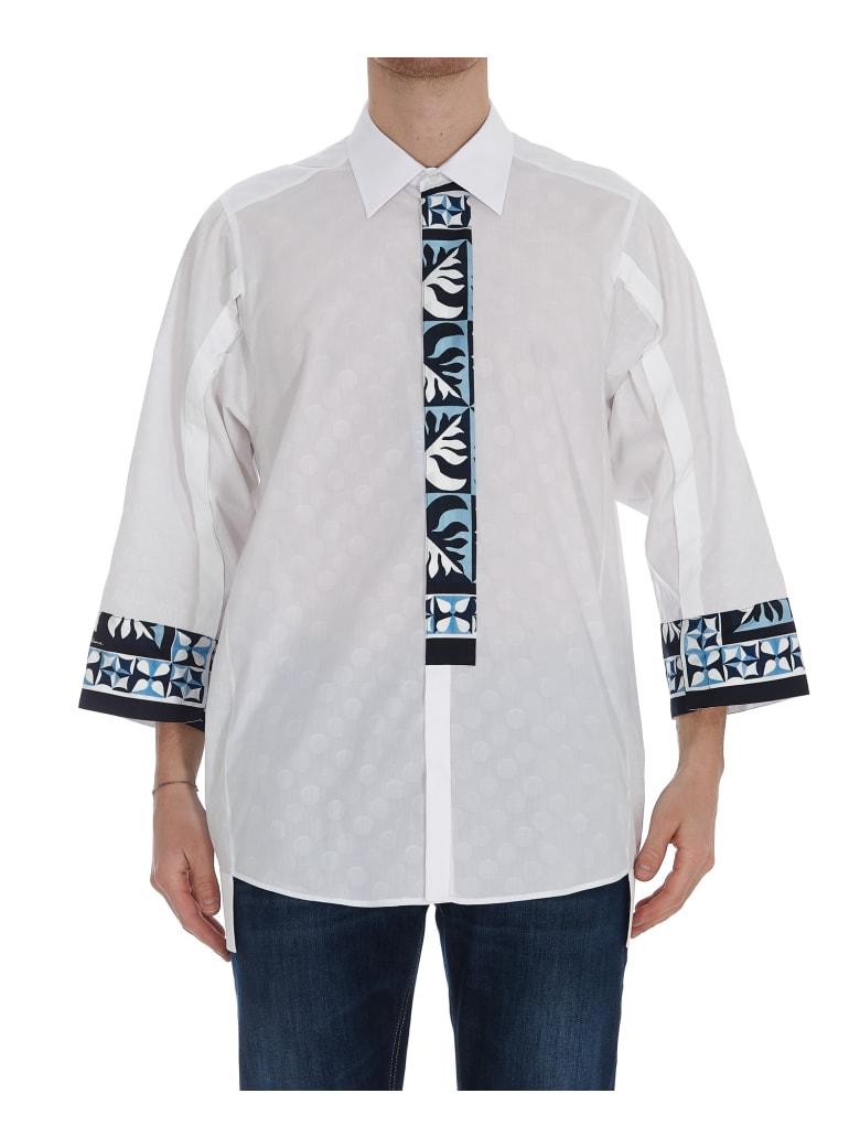 Dolce & Gabbana Printed Hawaii Shirt - White
