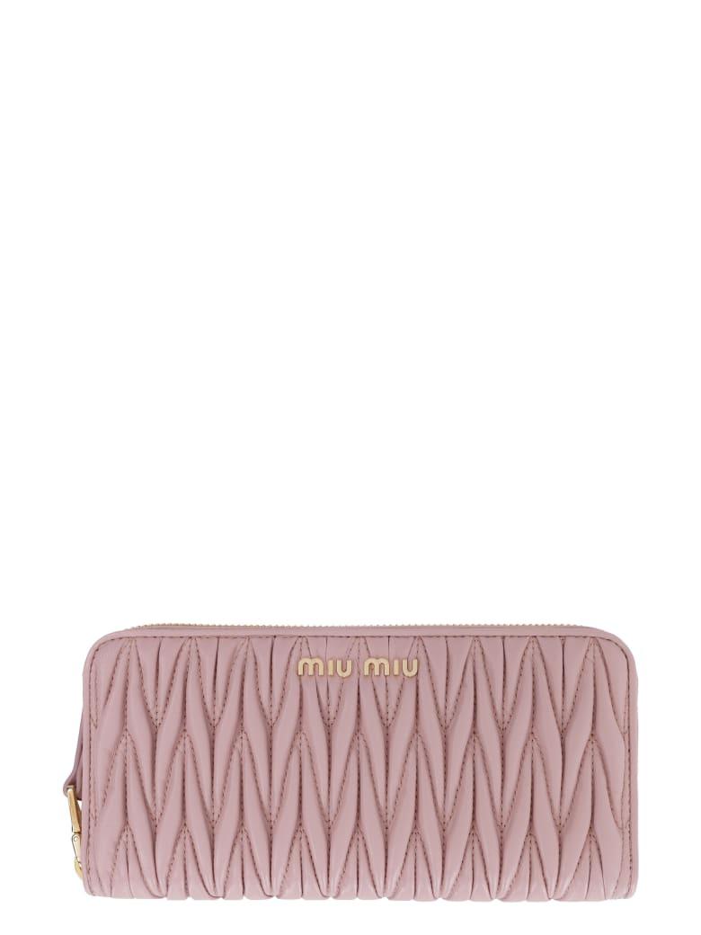 Miu Miu Continental Leather Wallet - Pink