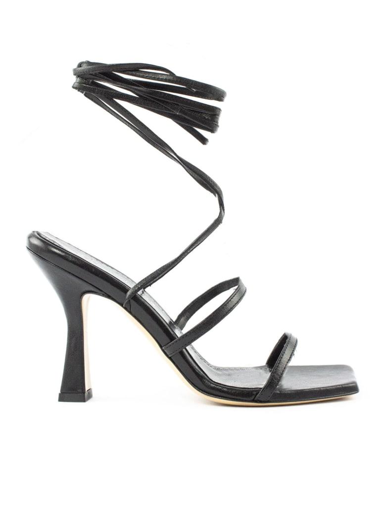 Aldo Castagna Lisa Black Leather Sandals - Nero