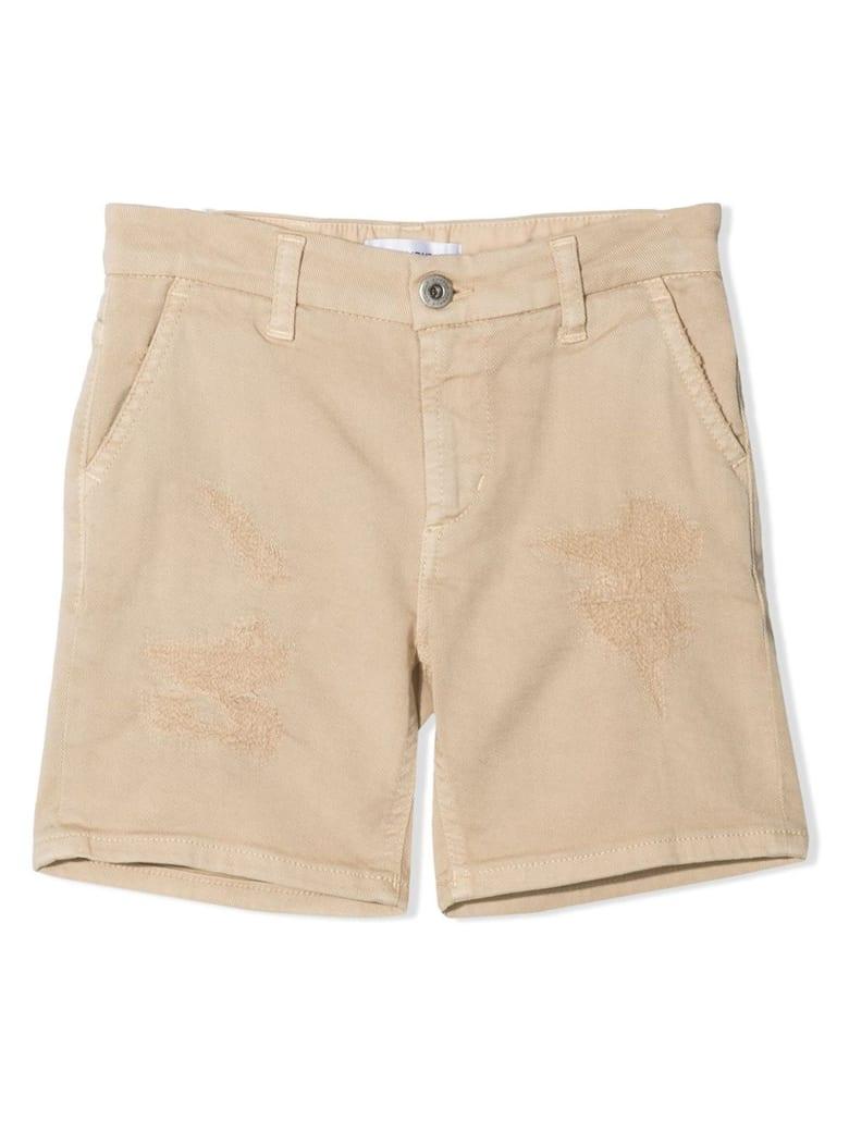 Dondup Beige Cotton-blend Denim Shorts - Beige