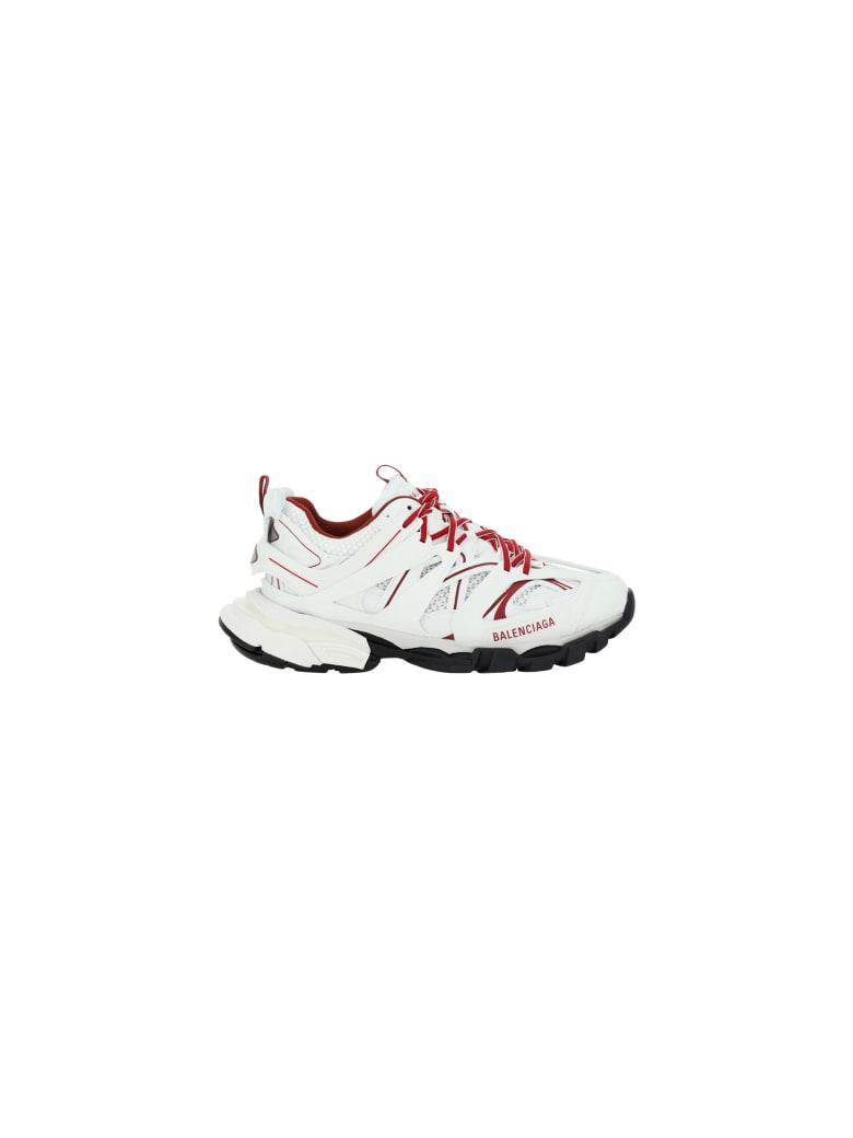 Balenciaga Track Sneakers - White/burgundy/black