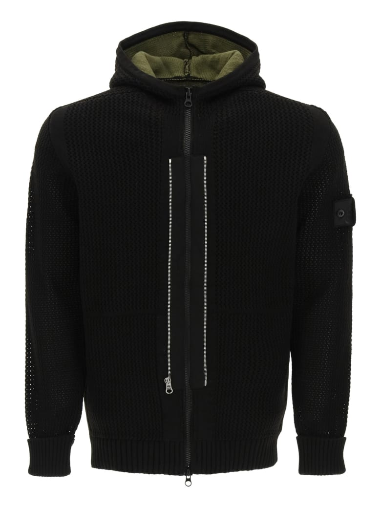 Stone Island Shadow Project Knit Hooded Jacket - Nero