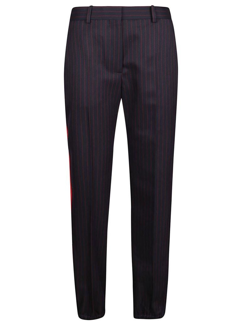 Victoria Beckham Slim Leg Zip Detail Pant - Navy/red