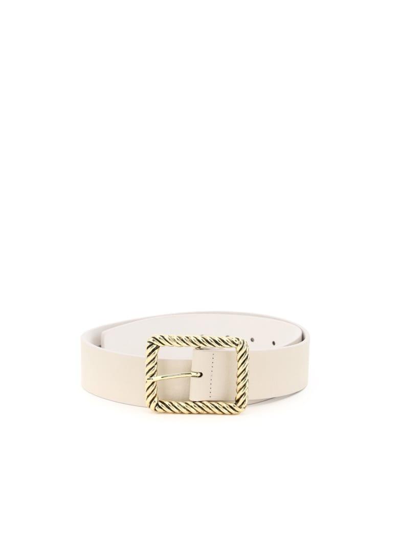B-Low the Belt Jeanelle Hammered Leather Belt - BONE GOLD (Beige)
