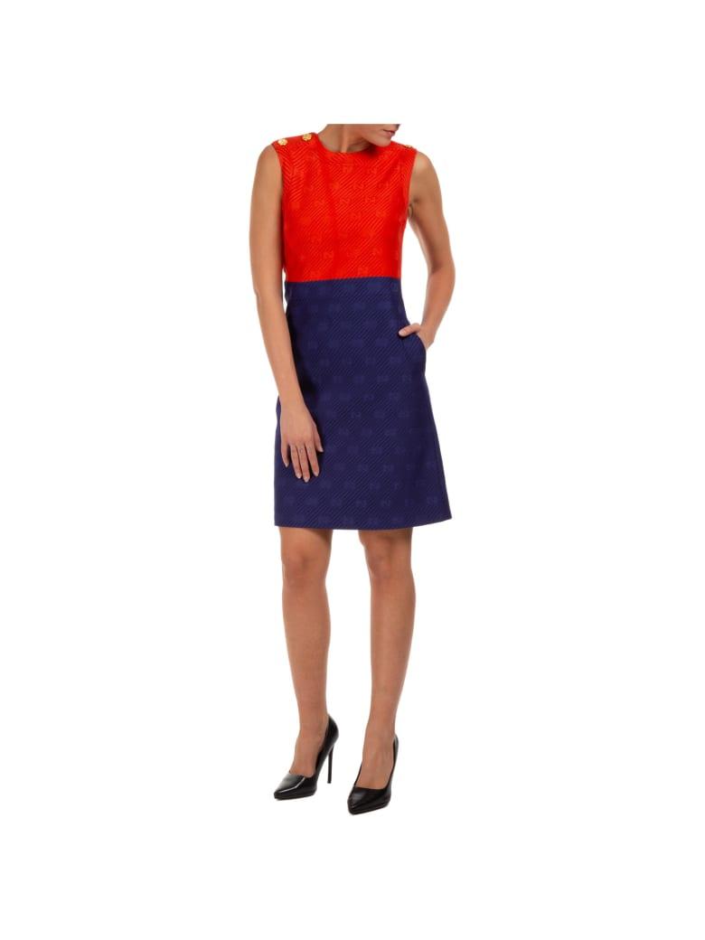 Gucci Doppia Gg Mini Dress - Rosso