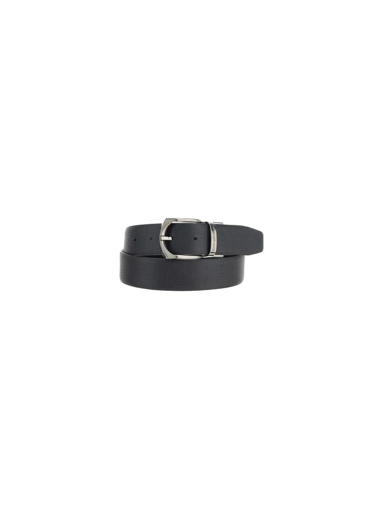 Ermenegildo Zegna Belt - Black/tobacco
